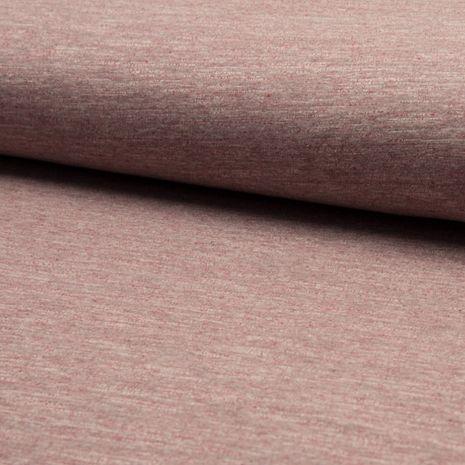 Tissu jogging mélangé - Rouge brun