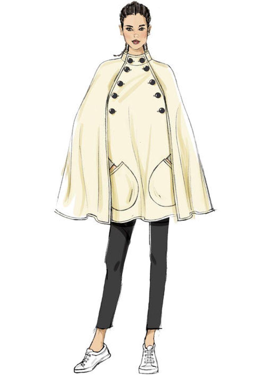 Patron de cape et ceinture - Vogue 9288