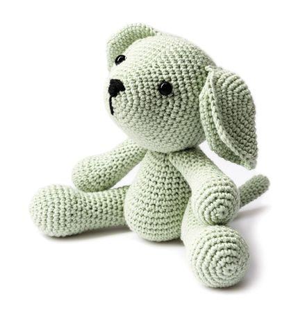 Kit crochet amigurumi - Chien vert