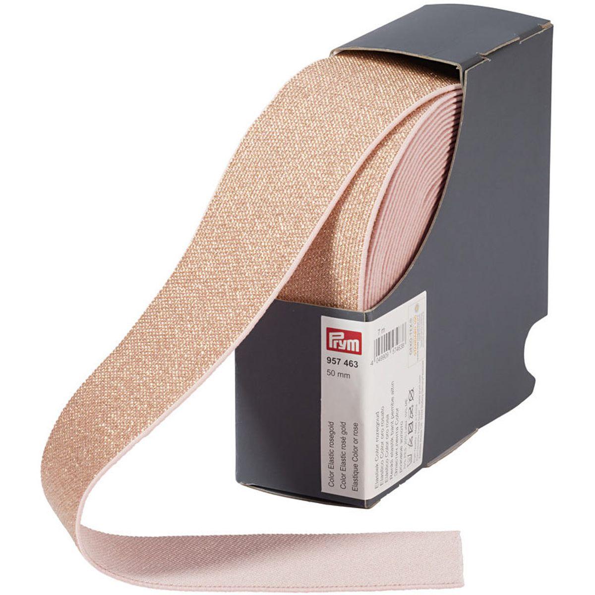 Elastique Color or rose 50 mm - Au mètre