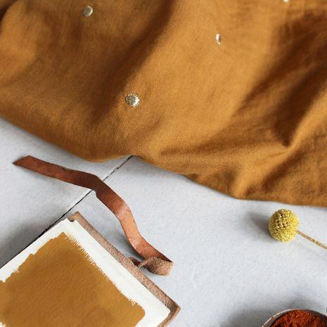 Tissu double gaze Stardust Ochre - Atelier Brunette