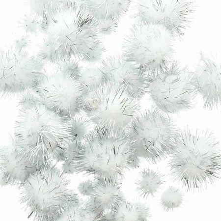 Set de 60 pompons brillants - Gris