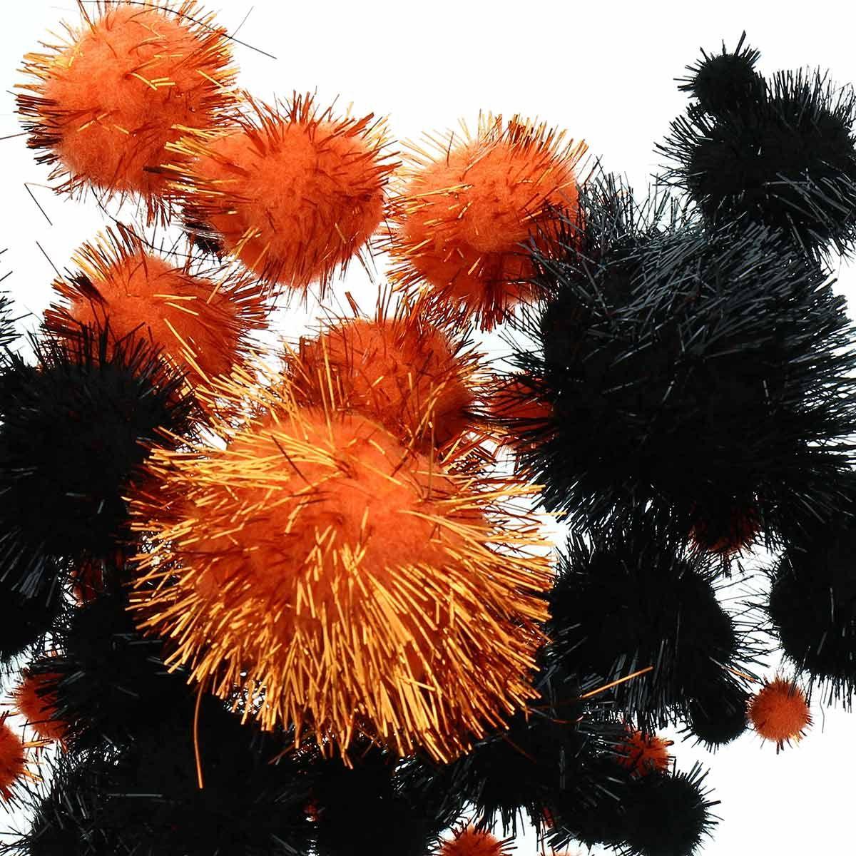 Set de 60 pompons brillants - Halloween