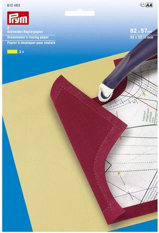 Papier à décalquer pour couture jaune