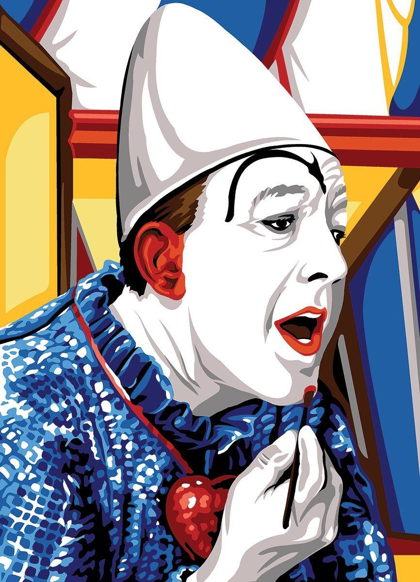 Kit canevas pénélope SEG de Paris - Clown blanc avant le spectacle
