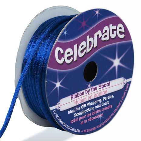 Cordon queue de rat Celebrate bleu roy - 2 mm x 10 mètres