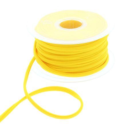 Cordon spaghetti lycra 5 mm - Jaune