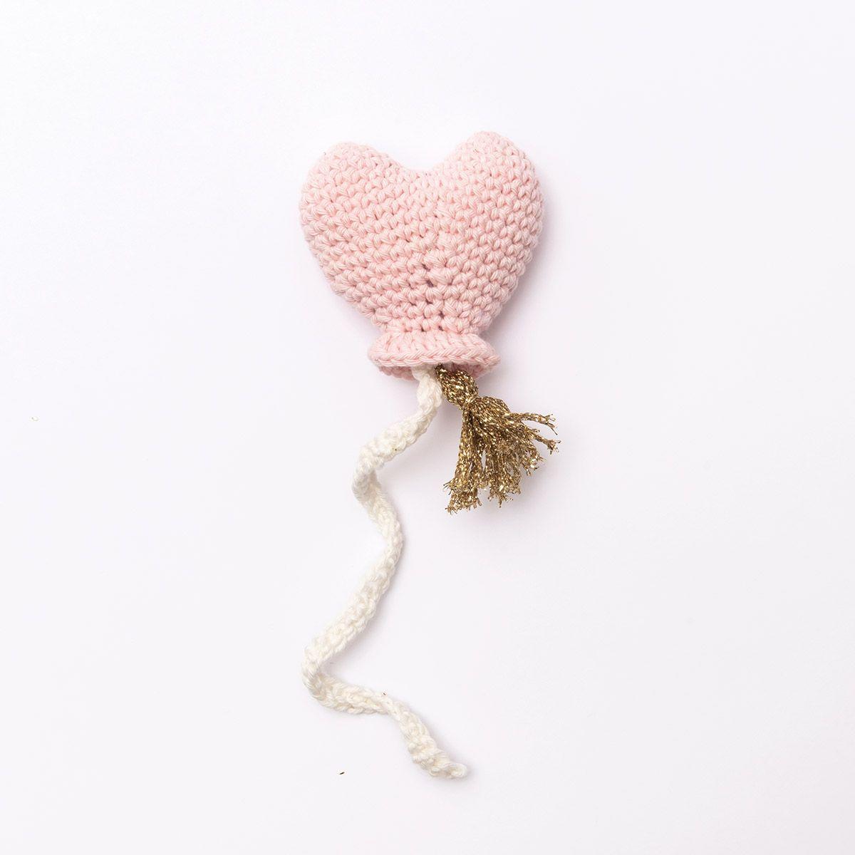 Kit crochet amigurumi - Coeur ballon