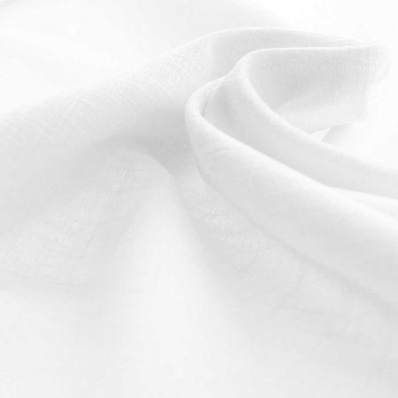 Tissu lin viscose - Blanc