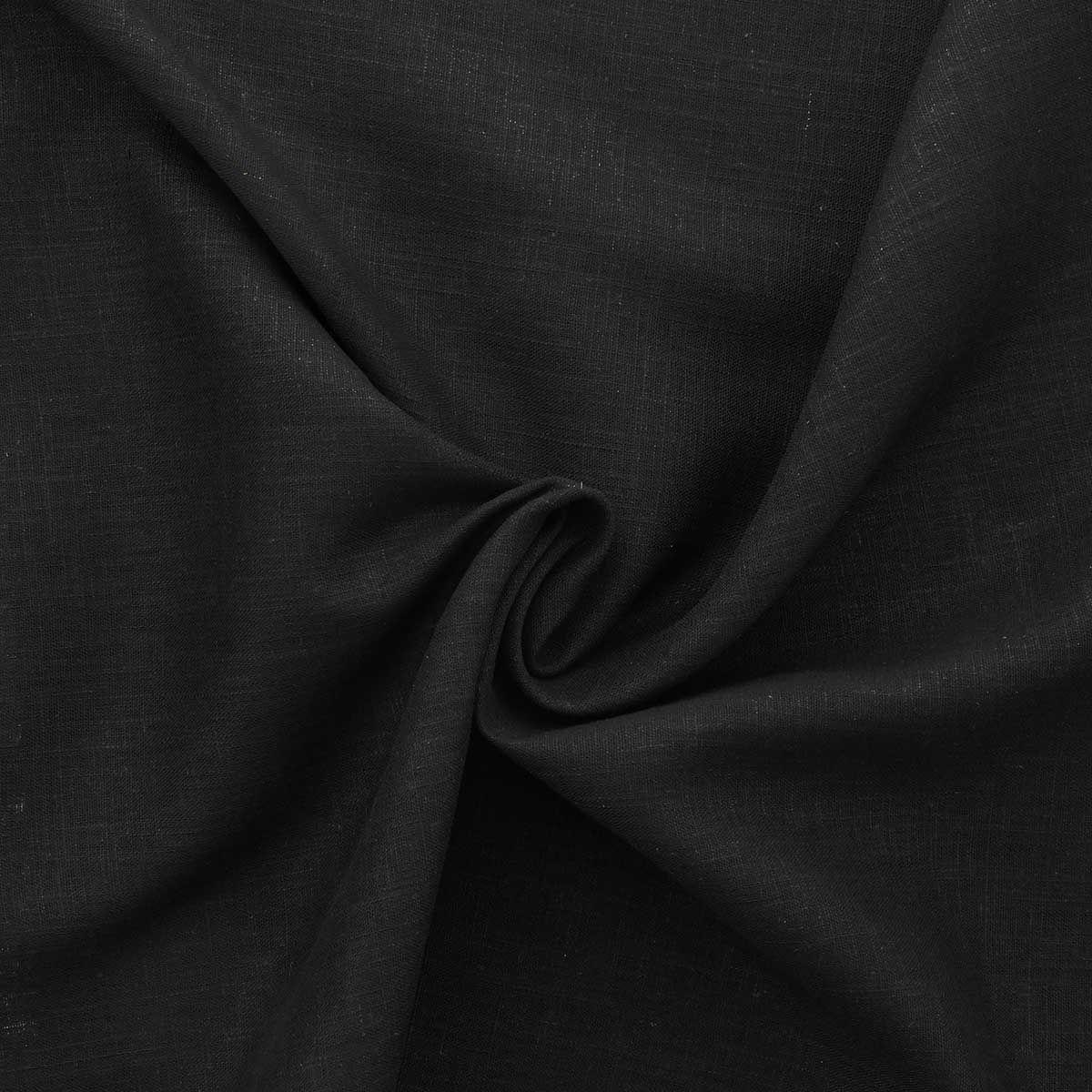 Tissu lin viscose - Noir