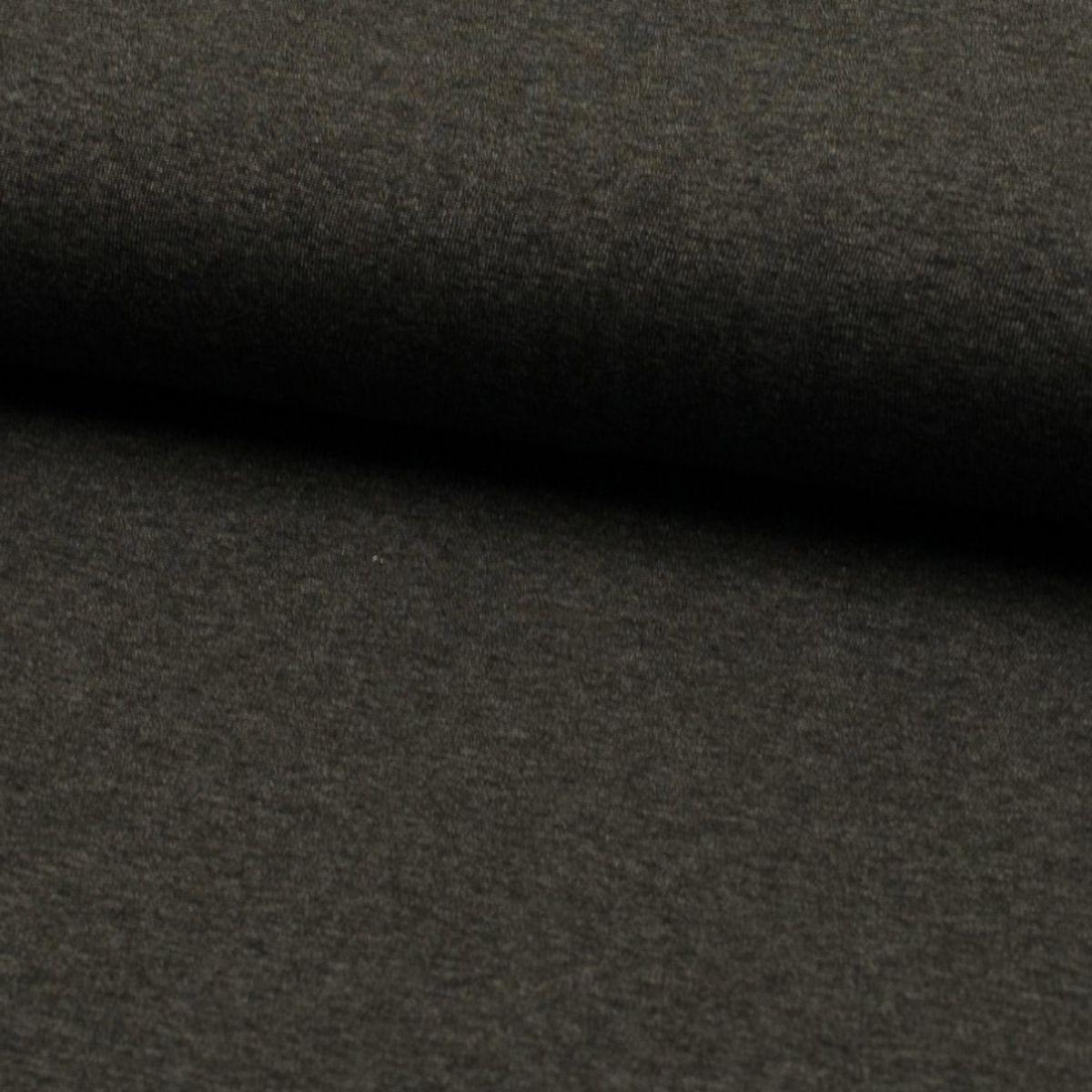 Tissu jersey viscose - Anthracite mélangé