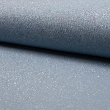 Tissu sweat pailleté - Bleu ciel