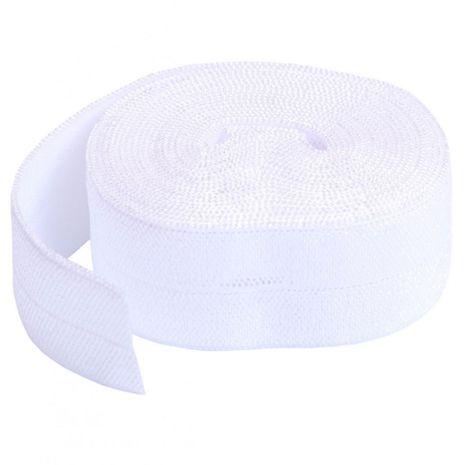 Biais élastique pré-plié 20 mm de large - Blanc