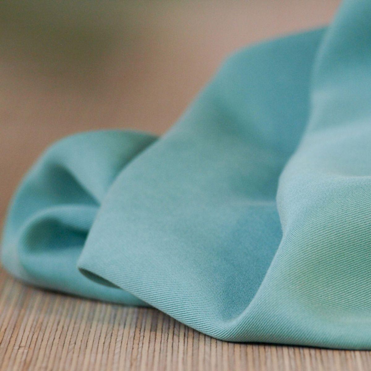 Tissu tencel - Bleu aqua