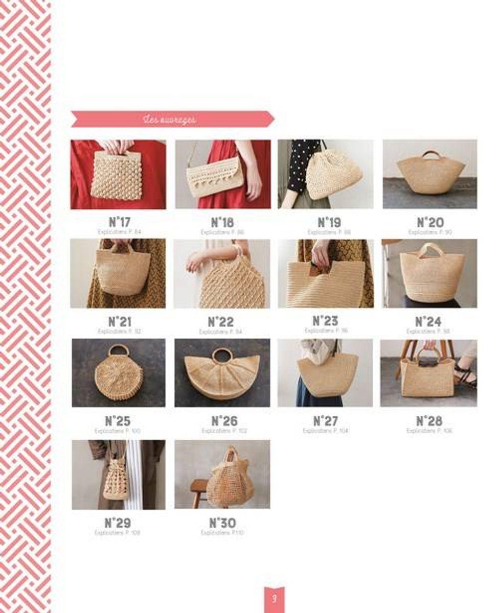Livre sacs et paniers au crochet