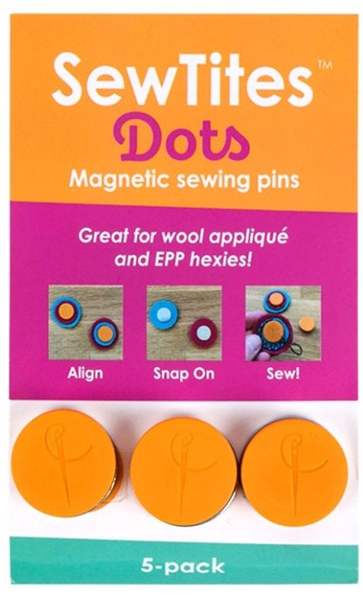 Épingles magnétiques SewTites Dots - Paquet de 5