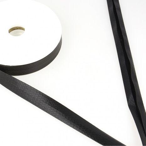 Biais lamé métallisé - Noir